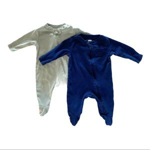 Old Navy | Set of Two Footie Sleepers (0-3 mos)